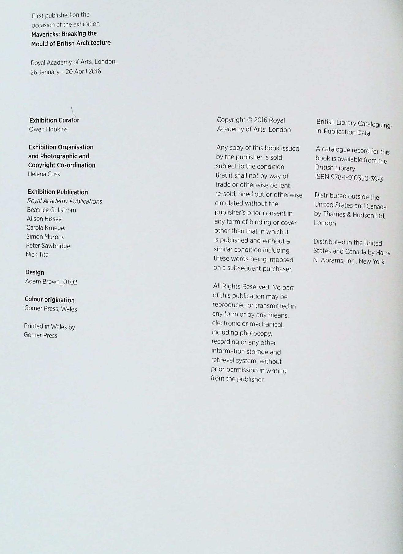 Mavericks Breaking The Mould Of British Architecture paperback book by Owen Hopkins. Published - Image 3 of 3