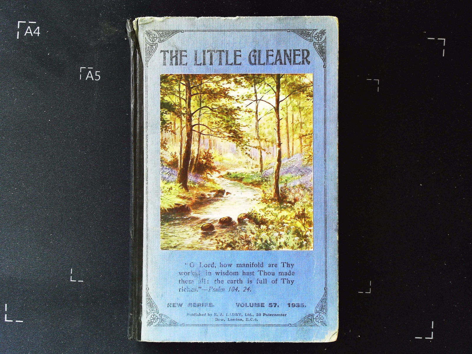 The Little Gleaner and Young People's Treasury Vol. 57 hardback book 240 pages Published 1935 E.