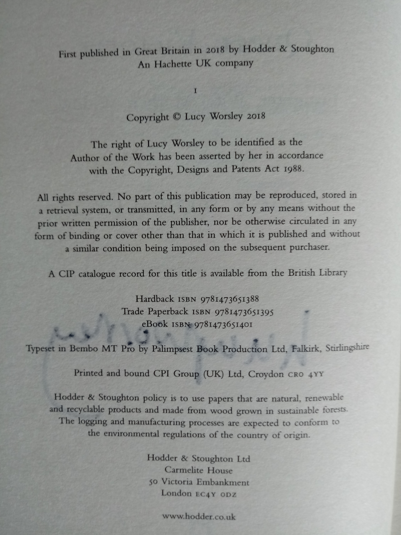 Queen Victoria Daughter, Wife, Mother, Widow by Lucy Worsley hardback book signed by author 421 - Image 4 of 4