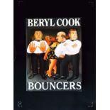 Beryl Cook Bouncers hardback book Published 1991 Victor Gollancz Ltd ISBN 0 575 05186 8. In good