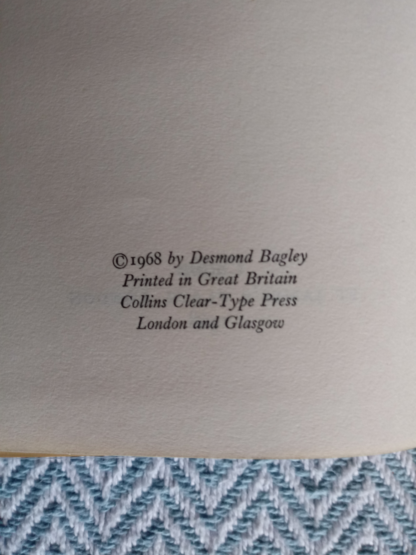 3 x Desmond Bagley hardback books published by Collins 1- Wyatt's Hurricane 287 pages 1966. In - Image 7 of 10