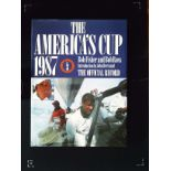 The America's Cup 1987 The Official Record hardback book by Bob Fisher and Bob Ross. Published