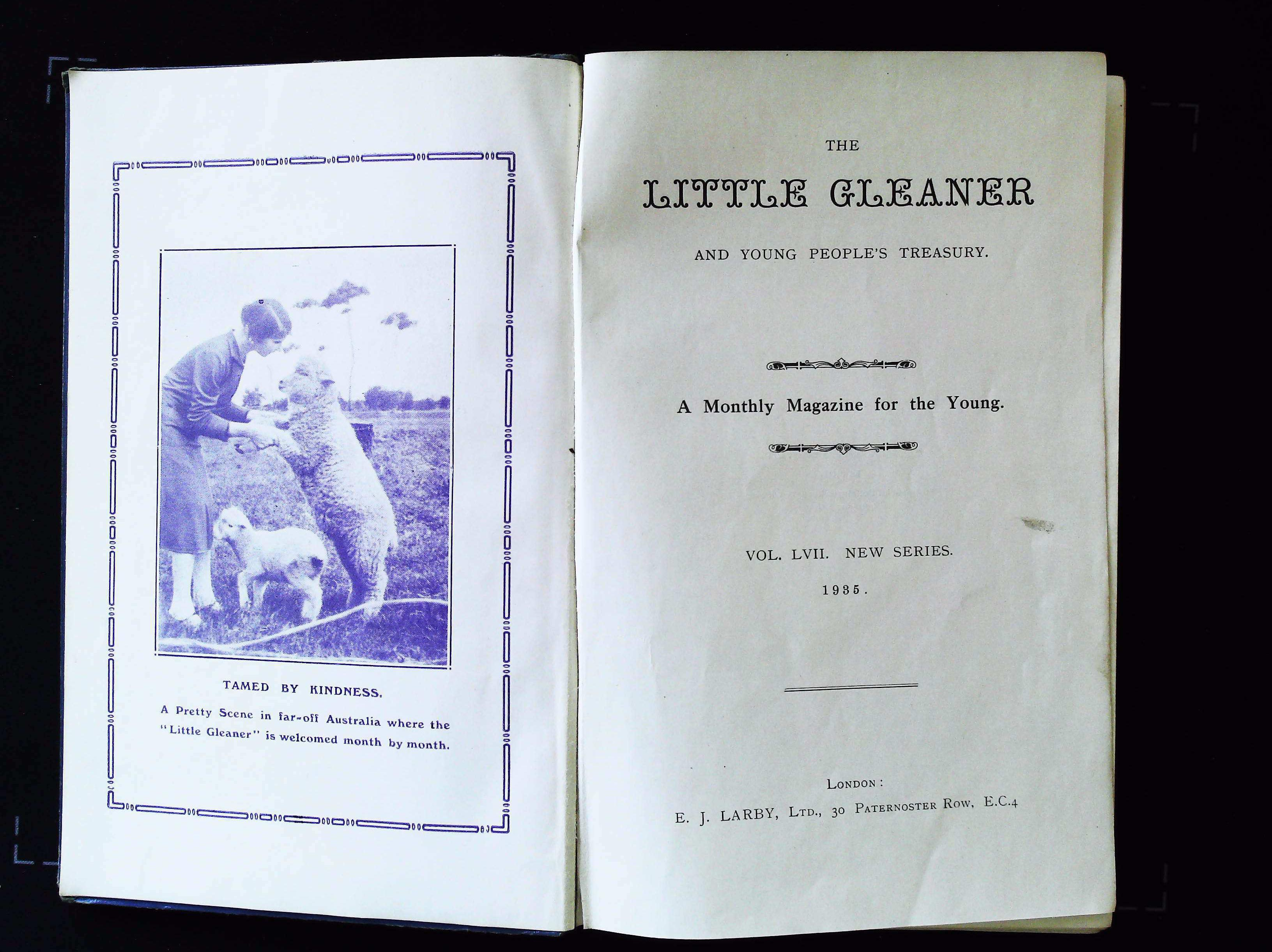 The Little Gleaner and Young People's Treasury Vol. 57 hardback book 240 pages Published 1935 E. - Image 3 of 3