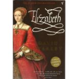Elizabeth by David Starkey. Unsigned paperback book with no dust jacket published in 2001 in Great