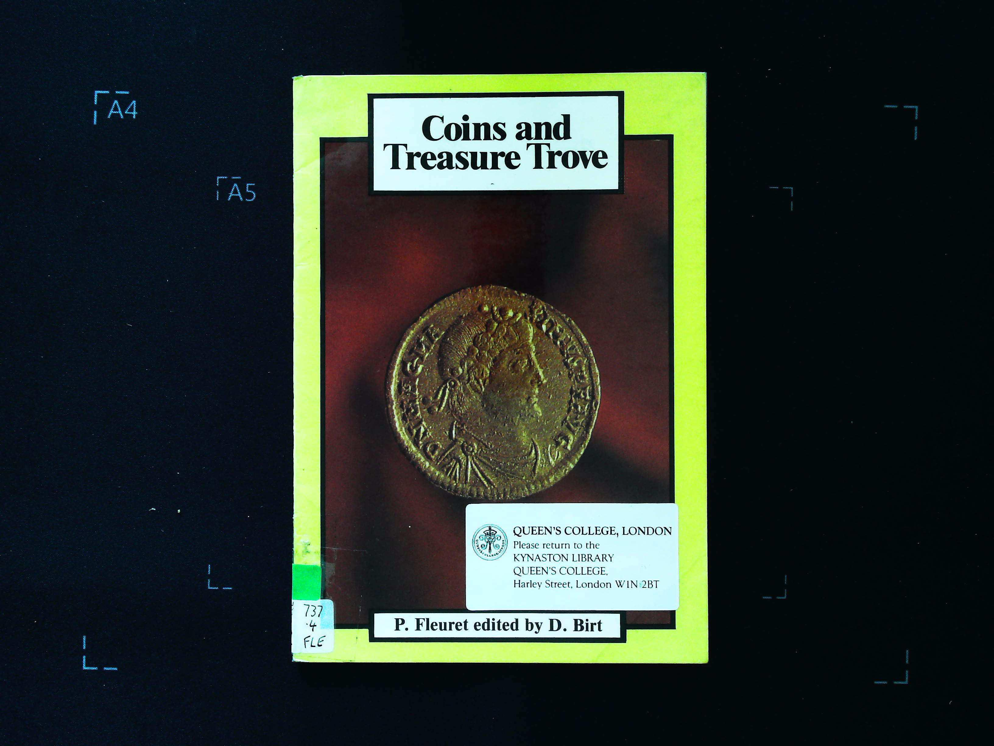 Coins and Treasure Trove P. Fleuret edited by D. Birt softback book 16 pages Longman ISBN 0 582