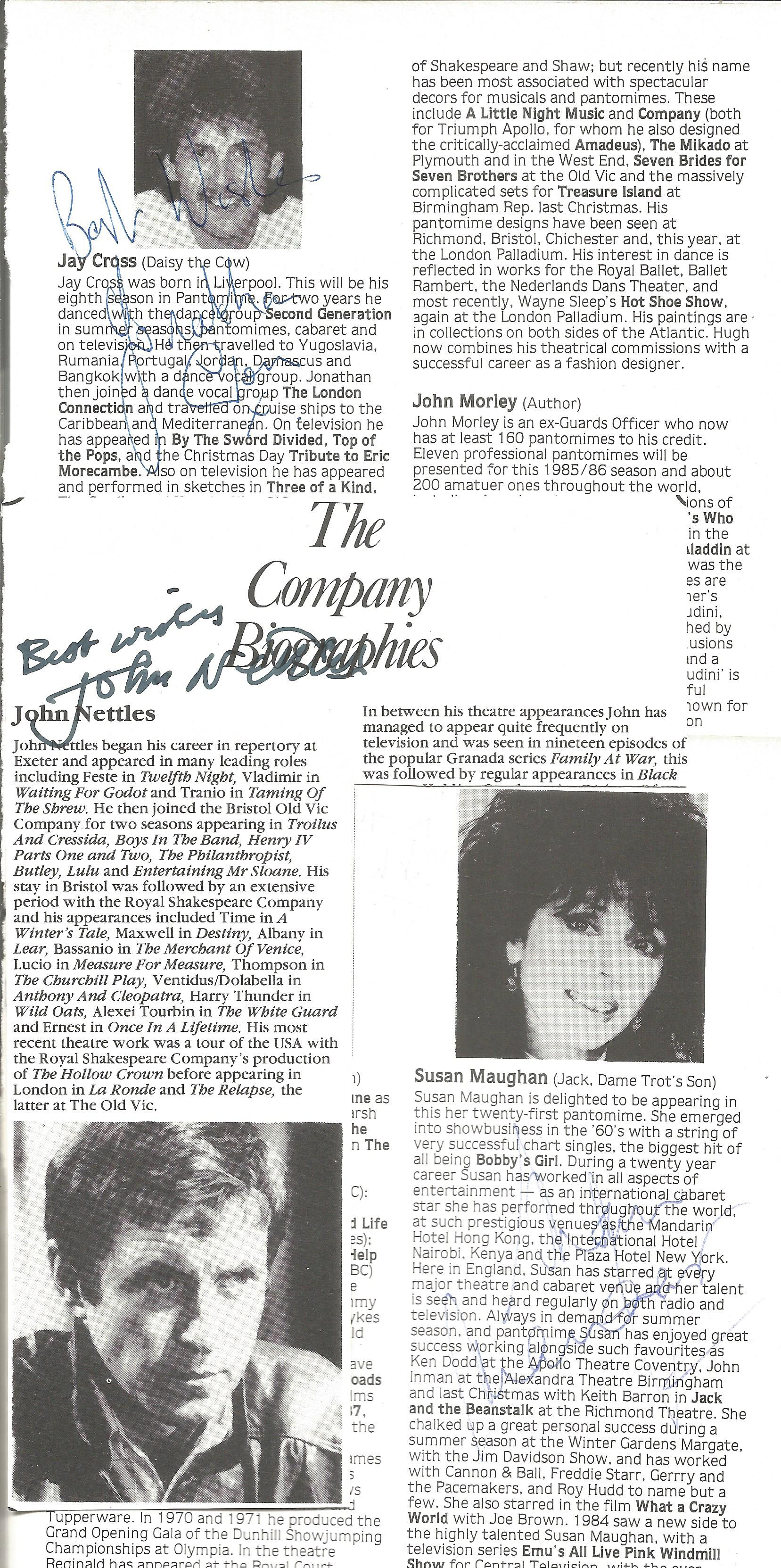 Theatre programme signature collection includes names such as John Nettles, Henry Kelly, Mark Curry, - Image 2 of 2