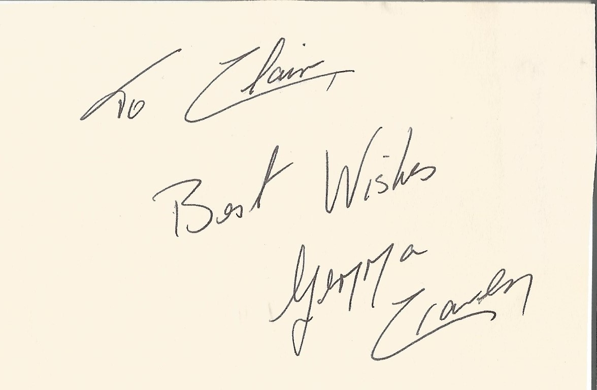 Gemma Craven signed and dedicated 3x4 album page. Craven appeared as Cinderella in the film- The