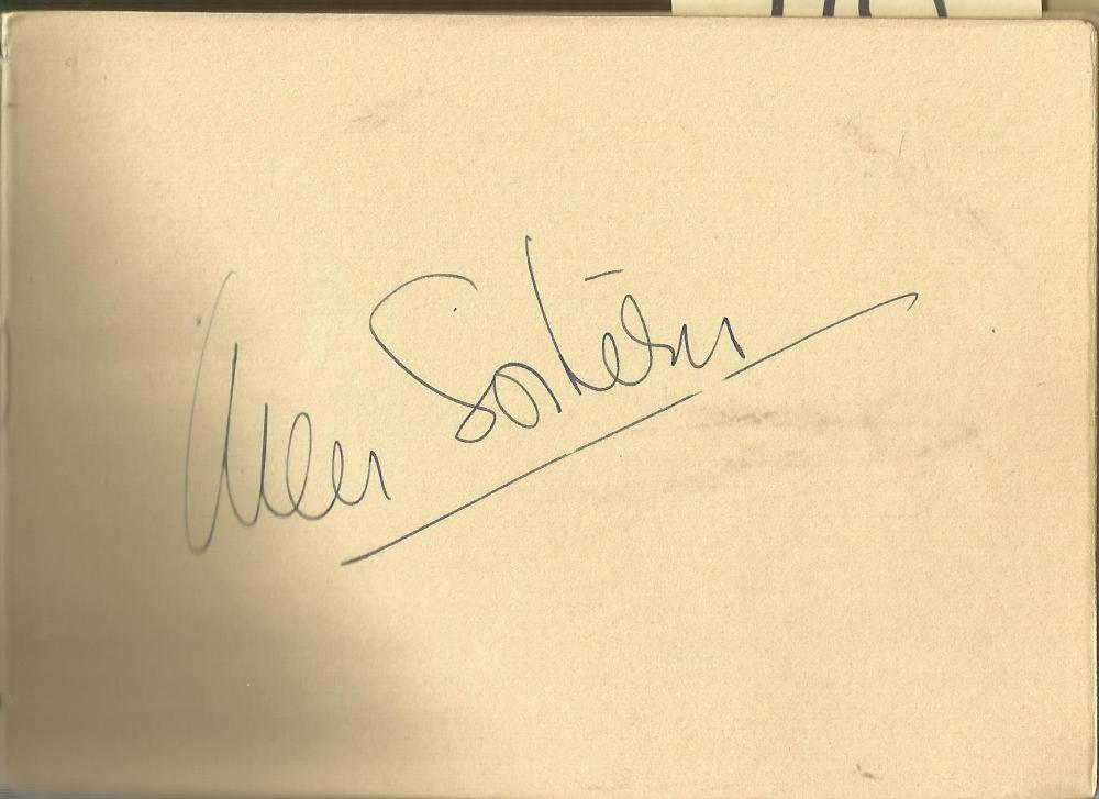 Ann Southern signed 6x4 album page. Ann Sothern (born Harriette Arlene Lake; January 22, 1909 -