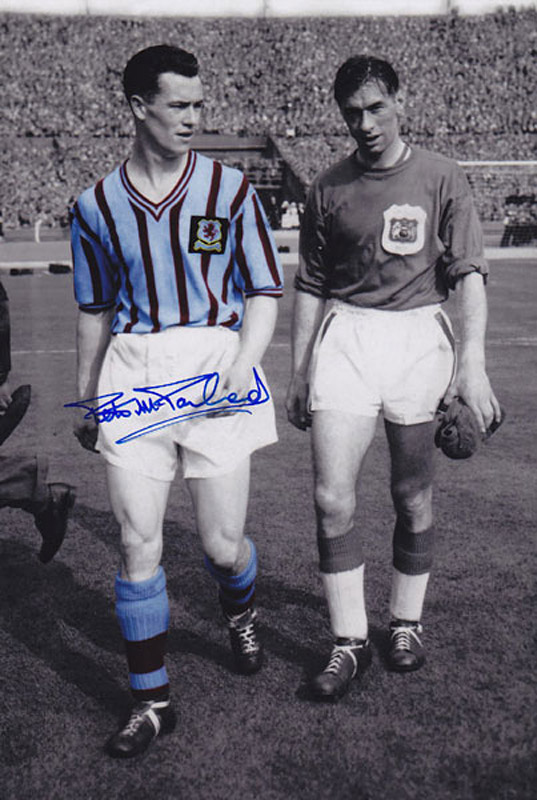 Autographed PETER McPARLAND 12 x 8 photo - Colz, depicting the Aston Villa centre-forward and