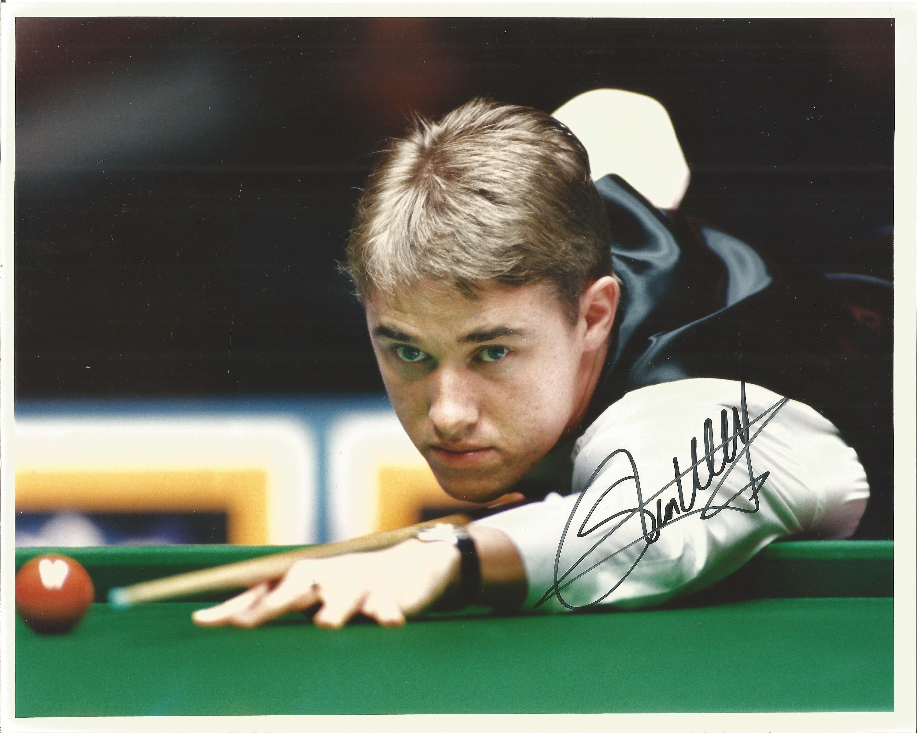 Steven Hendry Signed Snooker 1995 Press 8x10 Photo. Good Condition. All autographs are genuine