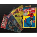 BOXING NEWS Annuals from 1955 to 1969 inc. Boxers on covers Sugar Ray Robinson, Ingemar Johansson,