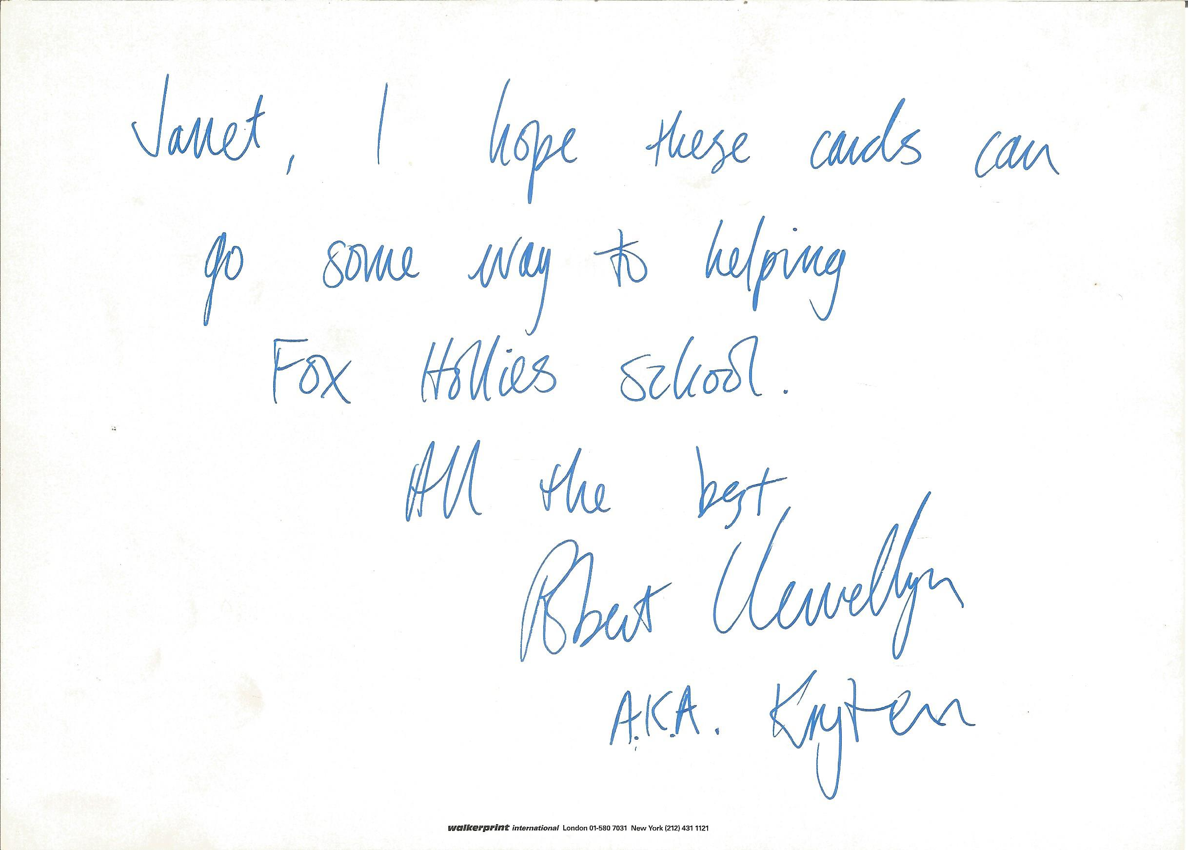 Robert Llewellyn signed 7x5 Red Dwarf colour photo inscribed on the reverse. Robert Llewellyn ( - Image 2 of 2