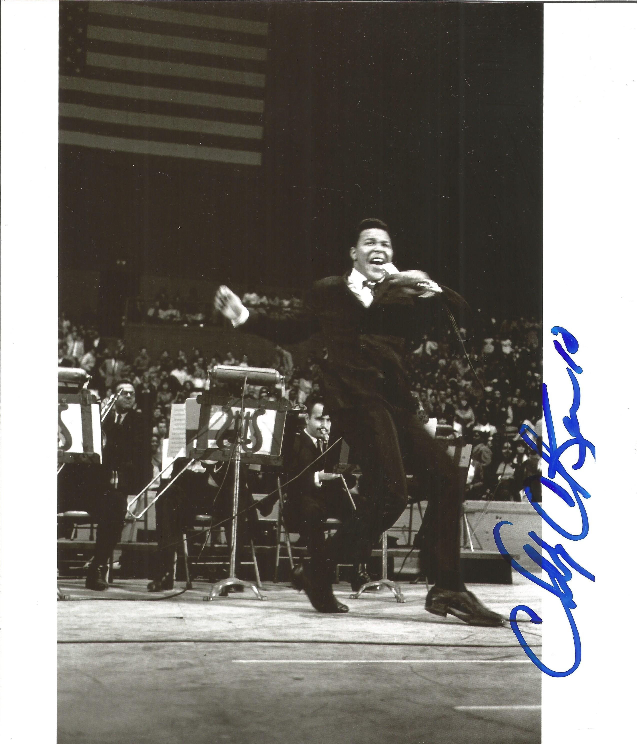 Chubby Checker signed 10x8 black and white photo. Chubby Checker (born Ernest Evans; October 3,