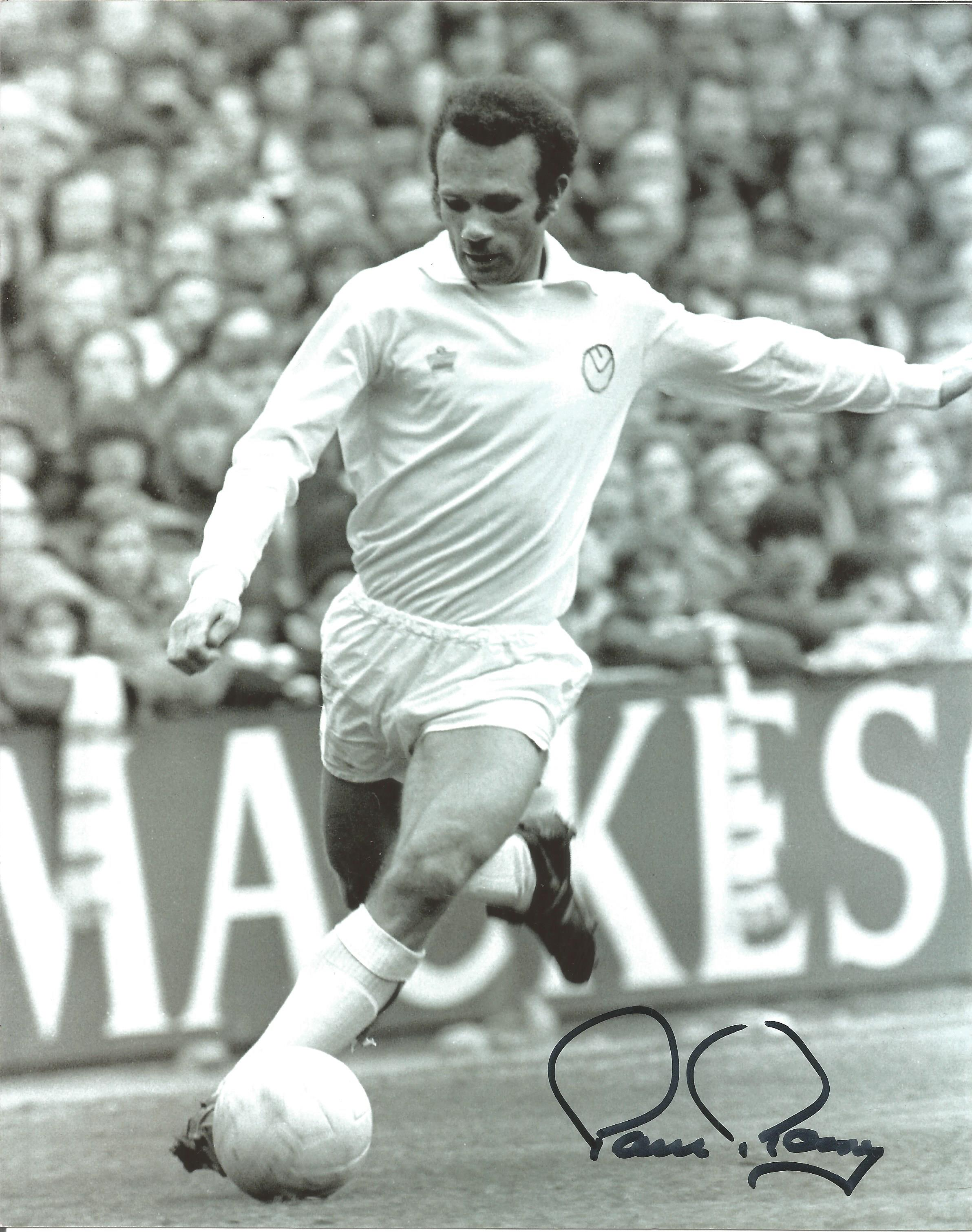 Paul Reaney Signed 8x10 Leeds United Photo. Good Condition. All autographs are genuine hand signed