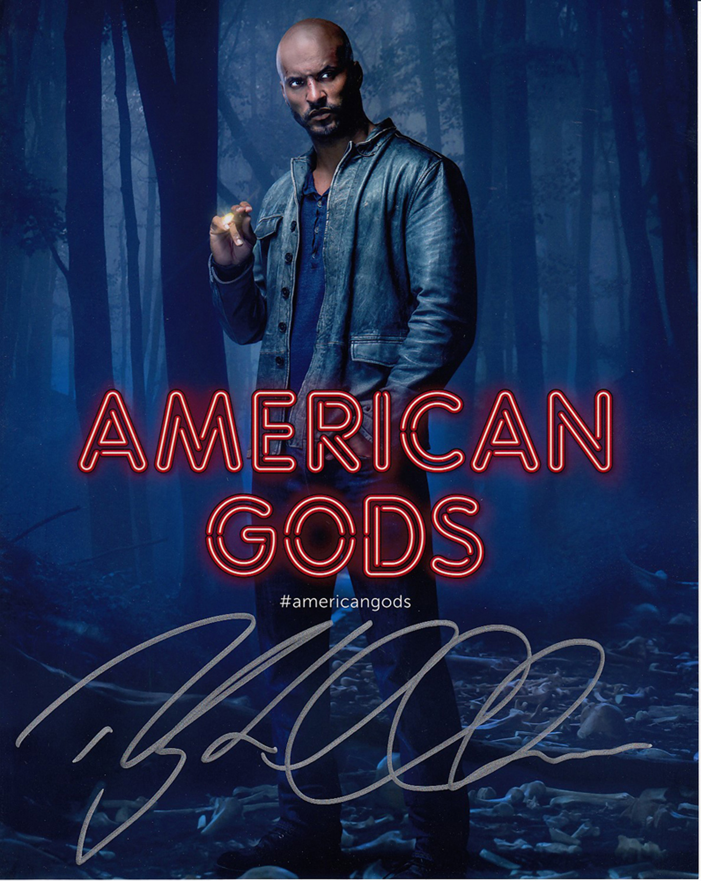 Blowout Sale! American Gods Ricky Whittle hand signed 10x8 photo. This beautiful 10x8 hand signed