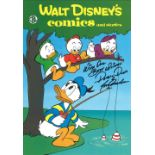 Tony Anselmo signed 14x11 colour print entitled Walt Disneys Comics and Stories inscribed with