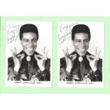 Danny John Jules collection two signed 7x5 black and white photos one dedicated. Daniel John-
