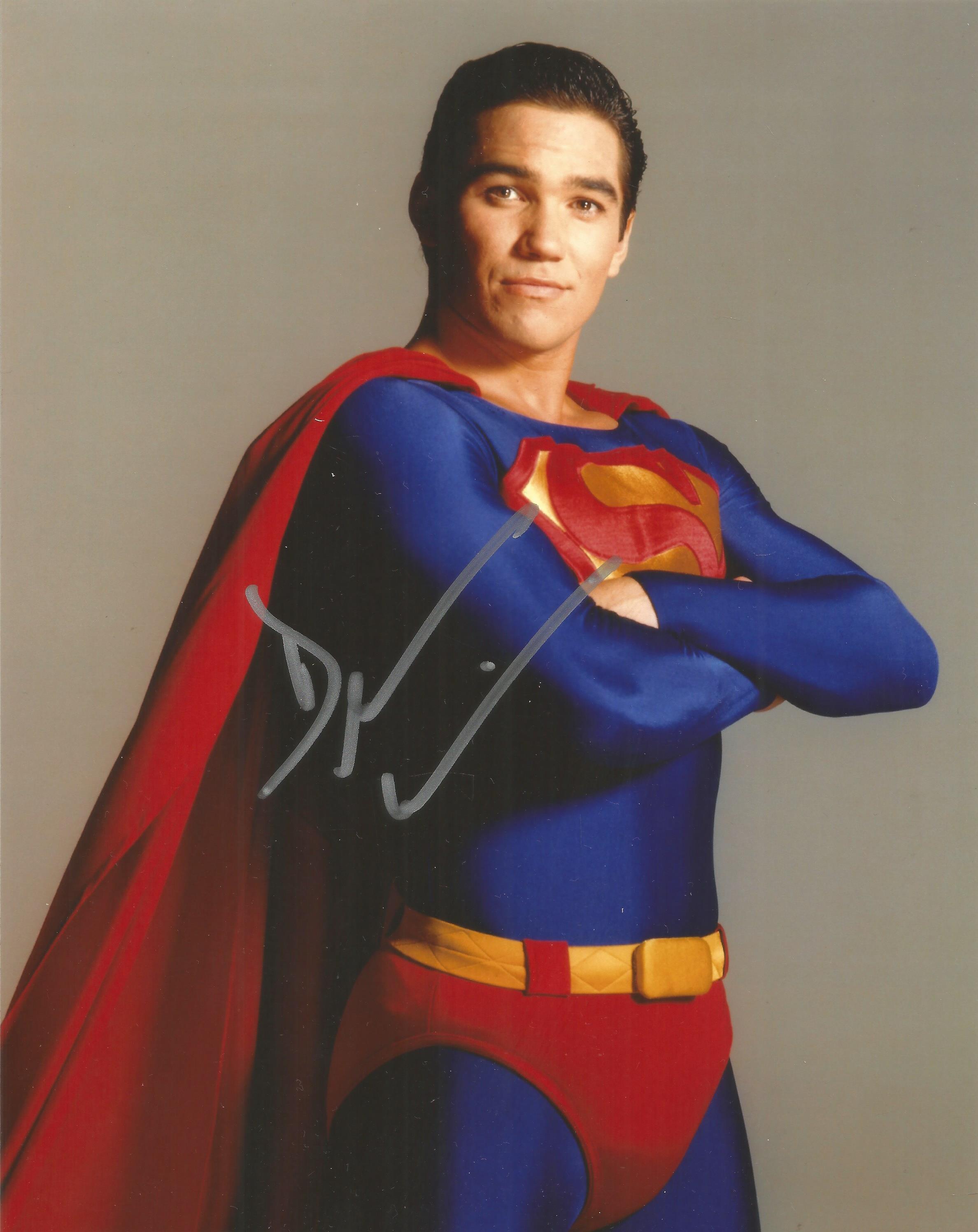 Dean Cain signed 10x8 Superman colour photo. Dean George Cain (né Tanaka; born July 31, 1966) is