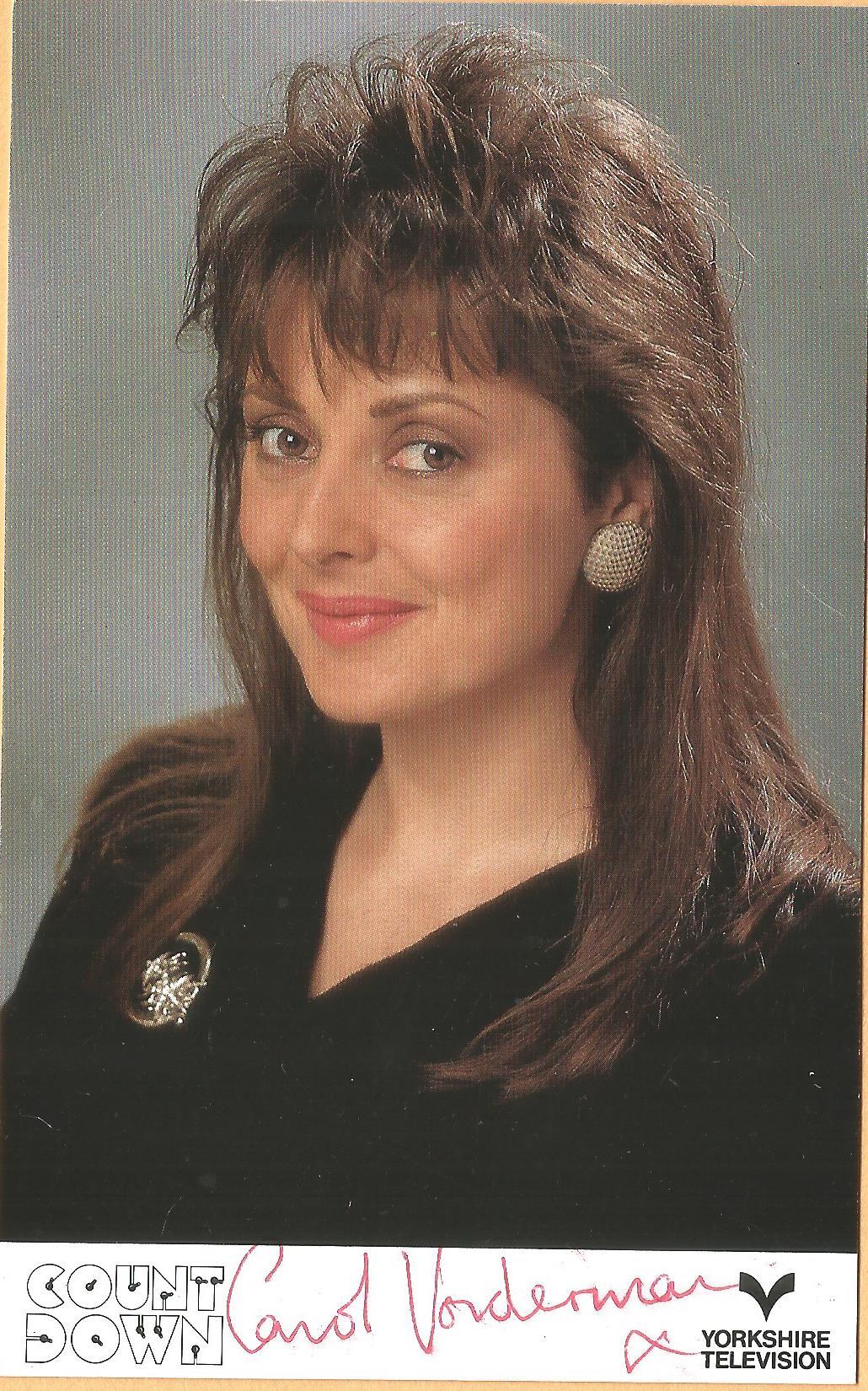 Carol Vorderman signed 6x4 colour photo. Carol Jean Vorderman, MBE (born 24 December 1960) is a