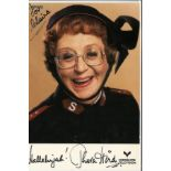 Thora Hird 6x4 signed colour promo photograph. A three-time winner of the BAFTA TV Award for Best