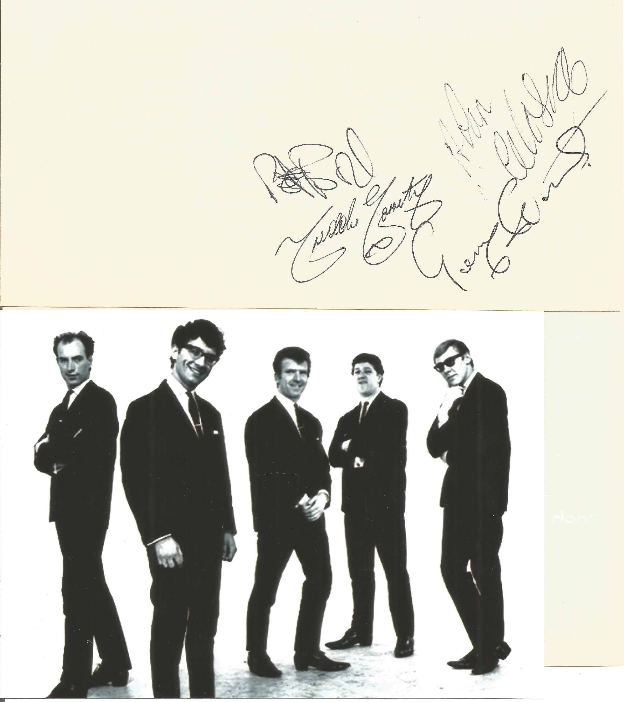 Freddie and The Dreamers 1960s Band Signed Lyrics Page Send A Letter To Me With Photo. Good - Image 2 of 2