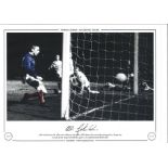 Willie Johnston Signed 12x16 Autographed Limited Edition 1969 Glasgow Rangers Photo. Good Condition.