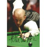 Peter Ebdon Signed Snooker 8x12 Photo. Good Condition. All autographs are genuine hand signed and