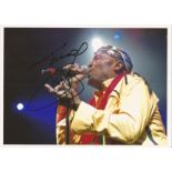 Jimmy Cliff signed 12x10 colour photo. Good Condition. All autographs are genuine hand signed and