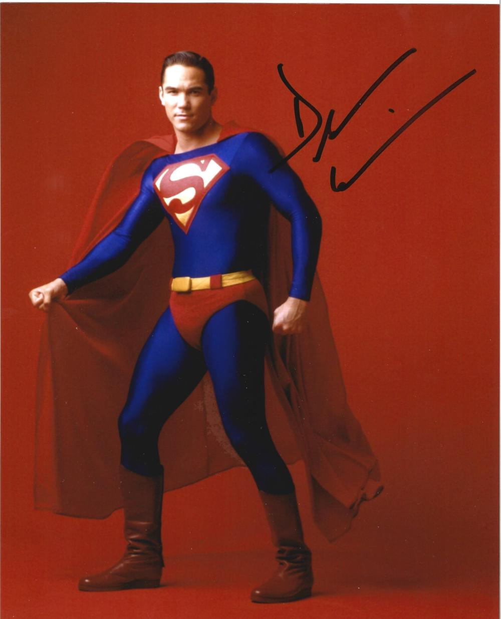 Dean Cain signed 10x8 colour Superman photo. Dean George Cain (born July 31, 1966) is an American