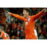 Football Jan Vennegoor of Hesselink signed 16x12 colour photo pictured celebrating while playing for