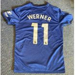 Timo Werner signed Chelsea replica home shirt. Size medium. Good Condition. All autographs are
