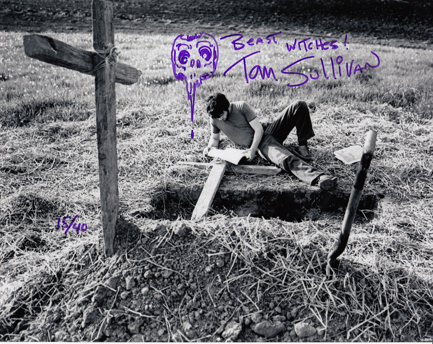 Blowout Sale! Evil Dead Tom Sullivan hand signed 10x8 photo. This beautiful 10x8 hand signed photo
