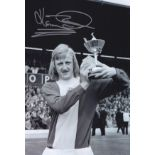 Autographed KENNY BURNS 12 x 8 photo - B/W, depicting the Birmingham City Player of The Year