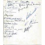 WW2 Multiple signed RAF Station, Shallufa [Egypt]. 1945 Victory Dinner Menu. 17 signatures. Fold