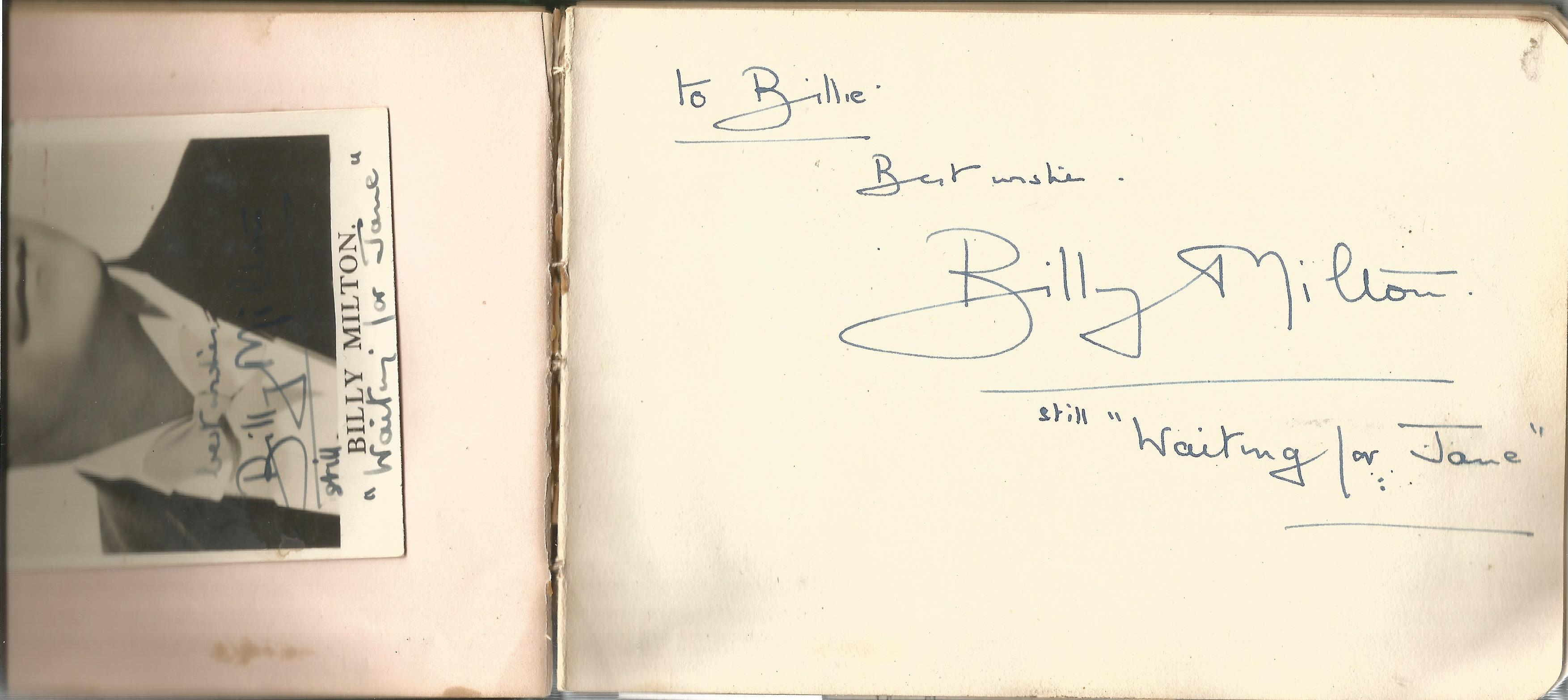 RAF Scampton. 1940-43. Autograph Album. 19cm wide x 13cm tall. Green cloth. Over 250 signatures. - Image 2 of 6