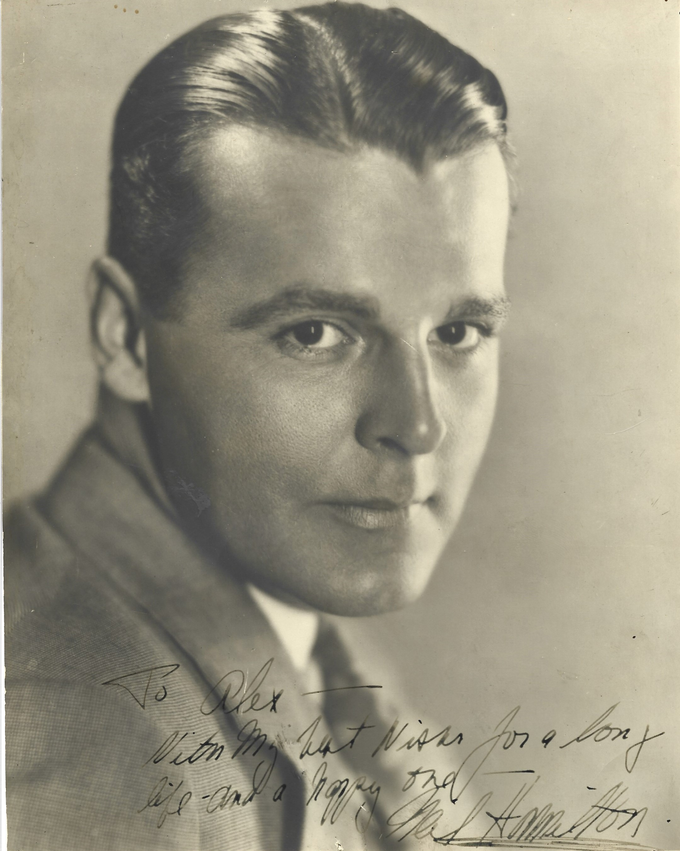 Neil Hamilton signed 10x8 sepia vintage photo dedicated. James Neil Hamilton (September 9, 1899 -