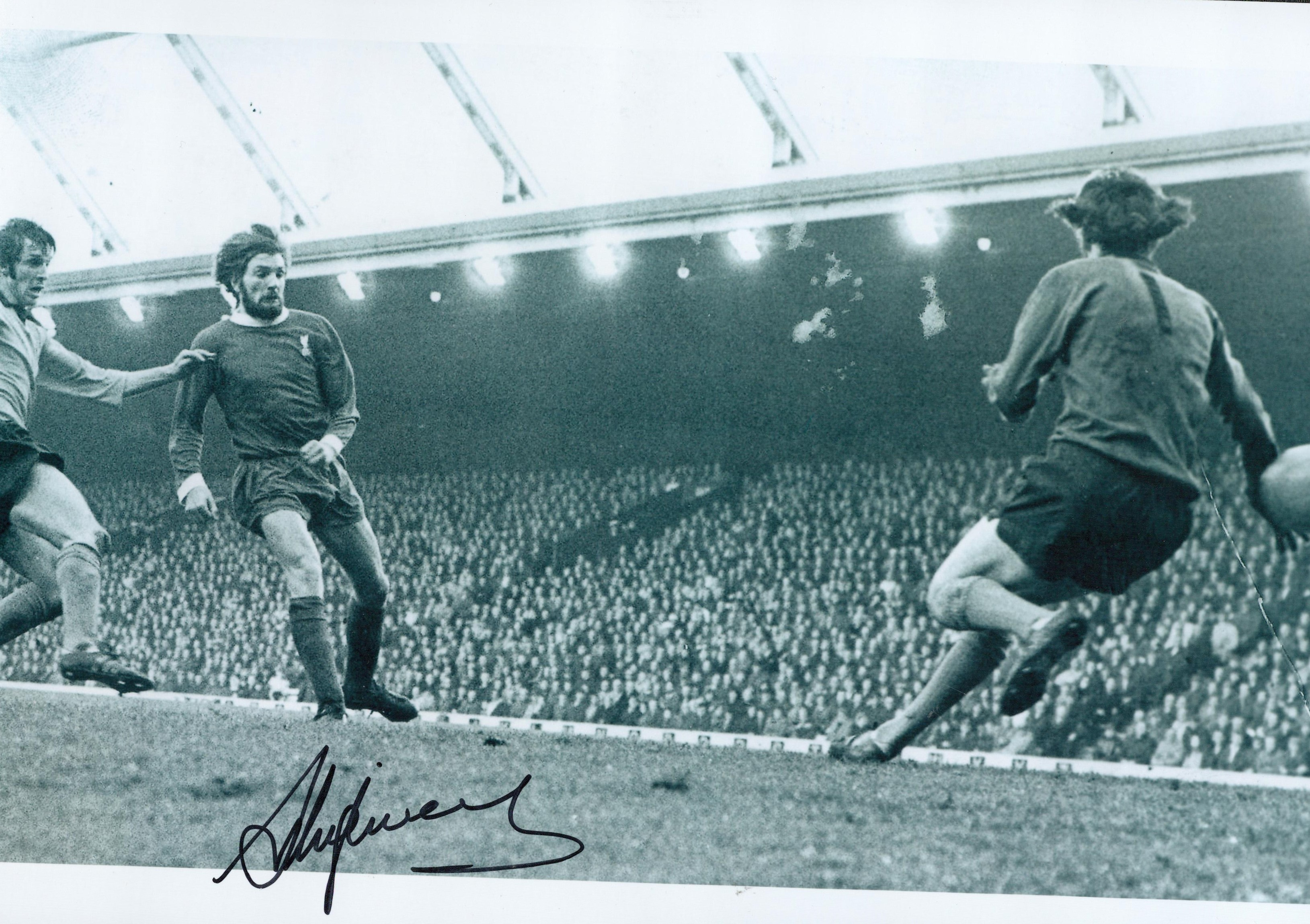 Football Steve Heighway signed 12x8 black and white photo pictured in action for Liverpool. Good