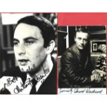 Callan collection two signed 6x4 black and white photos from stars of the 1960s hit tv series Edward