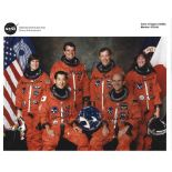 Space Shuttle Crew of STS99 signed 10 x 8 inch colour orange space suit photo. Signed by Kevin R.