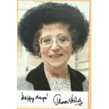 Thora Hird signed 6x4 colour photo. Dame Thora Hird DBE (28 May 1911 - 15 March 2003) was an English