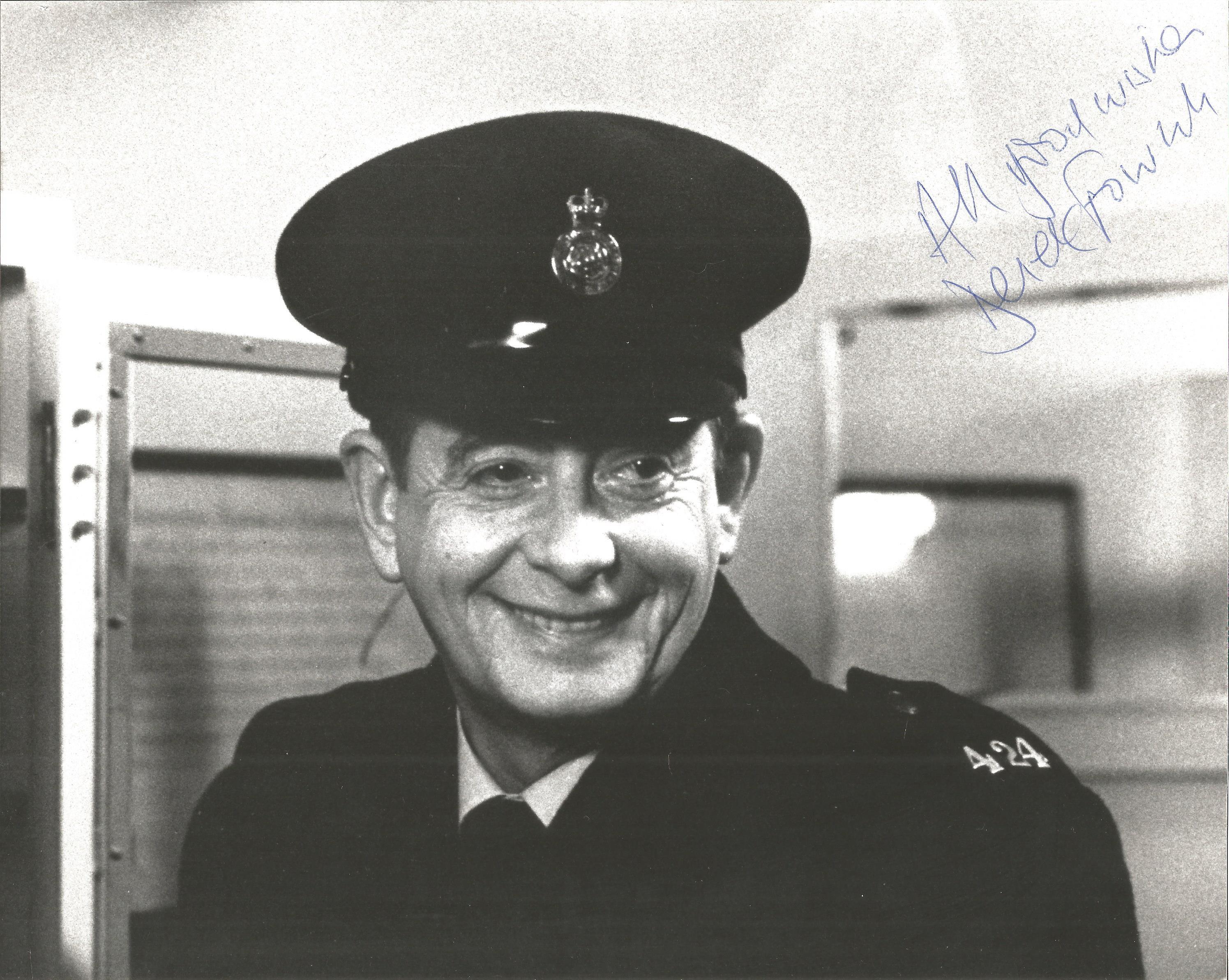 Derek Fowlds signed 10x8 black and white photo. Derek James Fowlds (2 September 1937 - 17 January