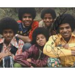 Jackson Five multi signed 16x12 colour photo includes Jackie Jackson, Tito Jackson, Jermaine Jackson