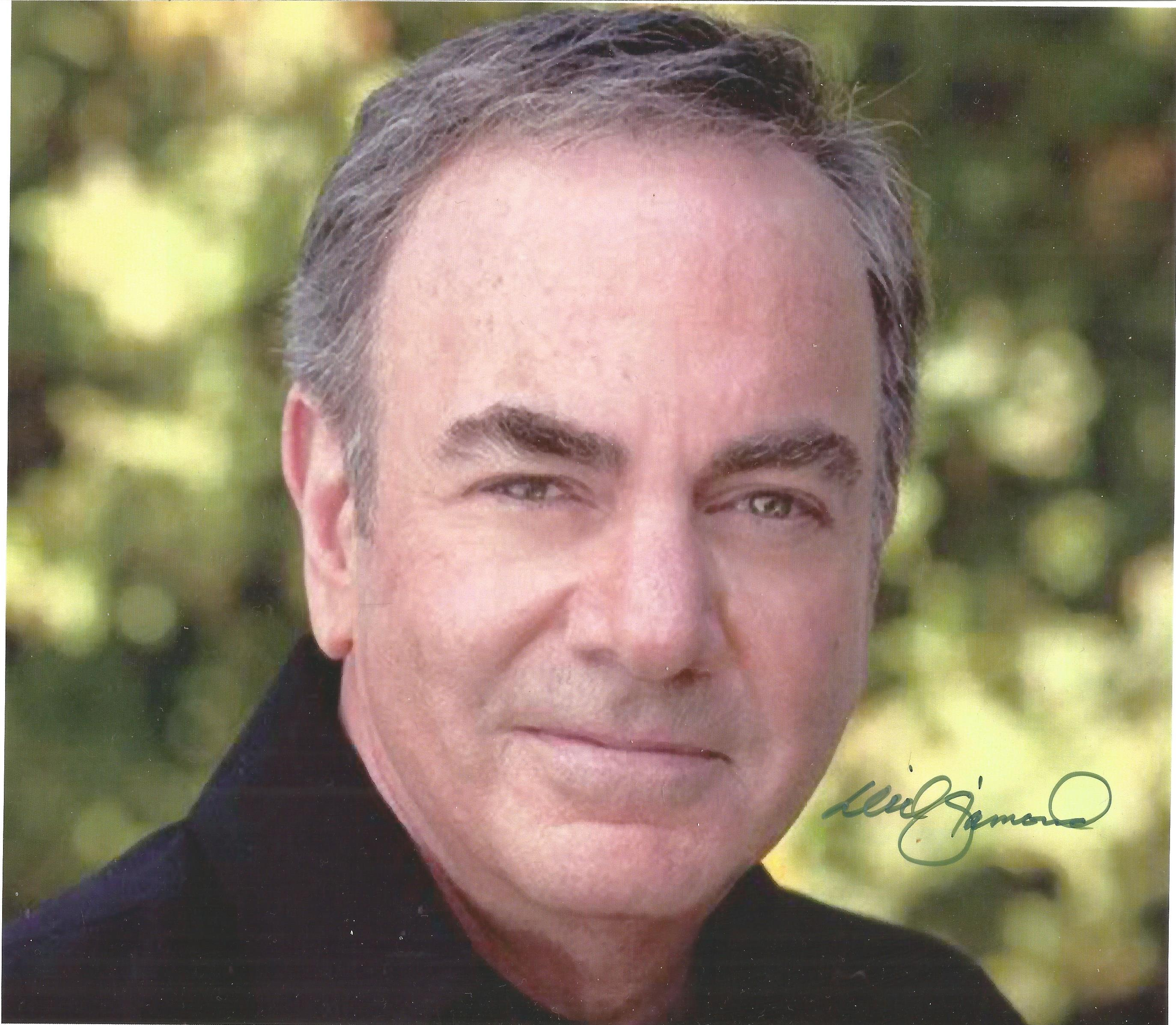 Neil Diamond signed 10x8 colour photo. Good Condition. All autographs are genuine hand signed and
