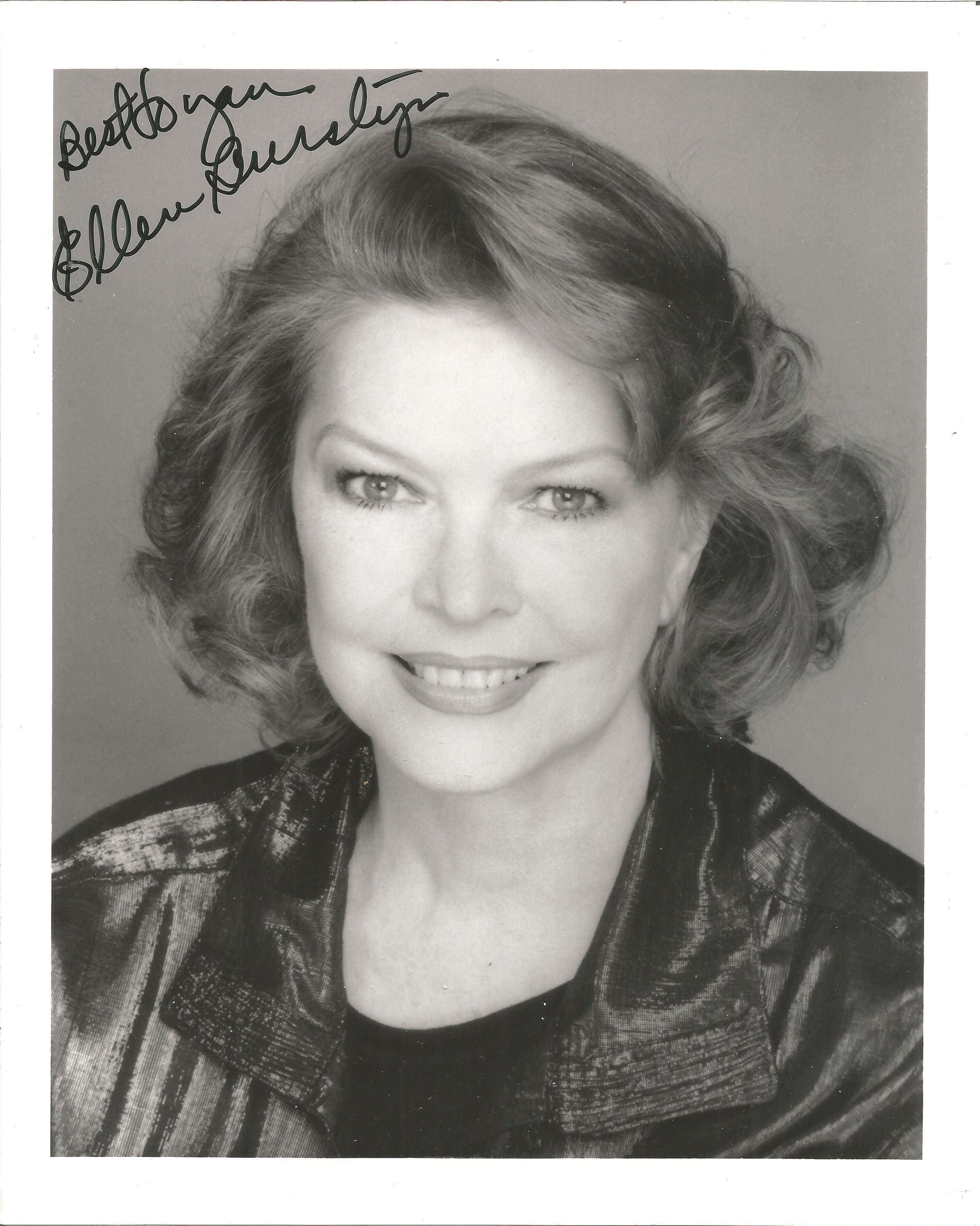 Ellen Burstyn signed 10x8 black and white photo. Good Condition. All autographs are genuine hand