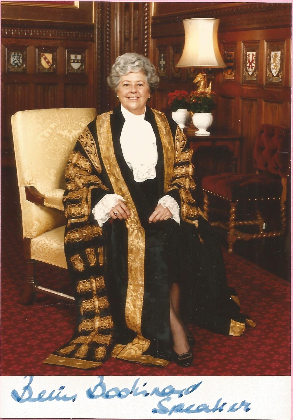 Betty Boothroyd signed 5x3 colour photo. Betty Boothroyd, Baroness Boothroyd OM, PC, Hon. FSLL (born