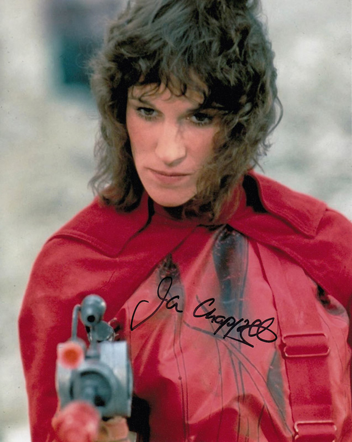 Blowout Sale! Blakes 7 Jan Chappell hand signed 10x8 photo. This beautiful 10x8 hand signed photo