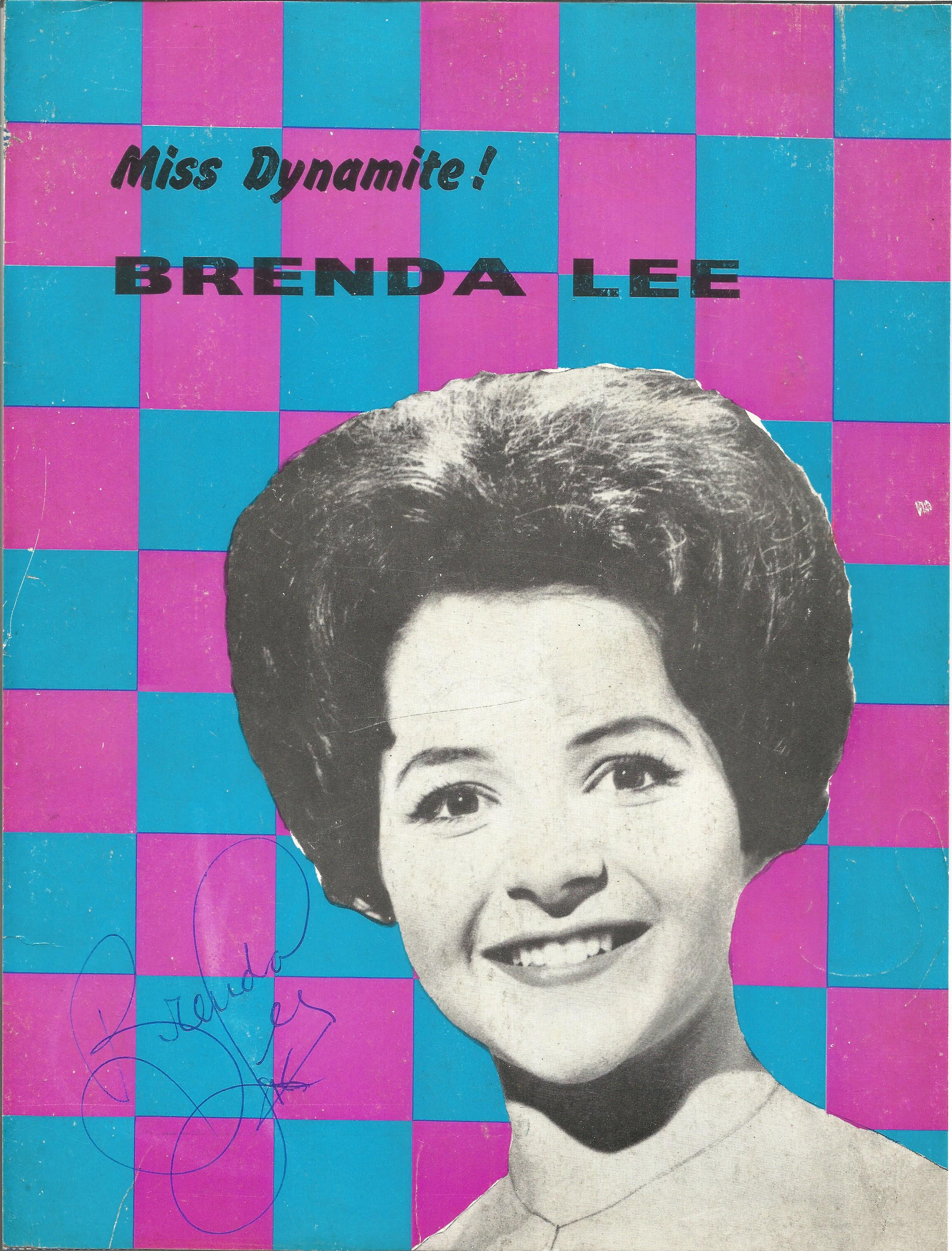 Brenda Lee Singer Signed Vintage 8x10 Picture. Good Condition. All autographs are genuine hand
