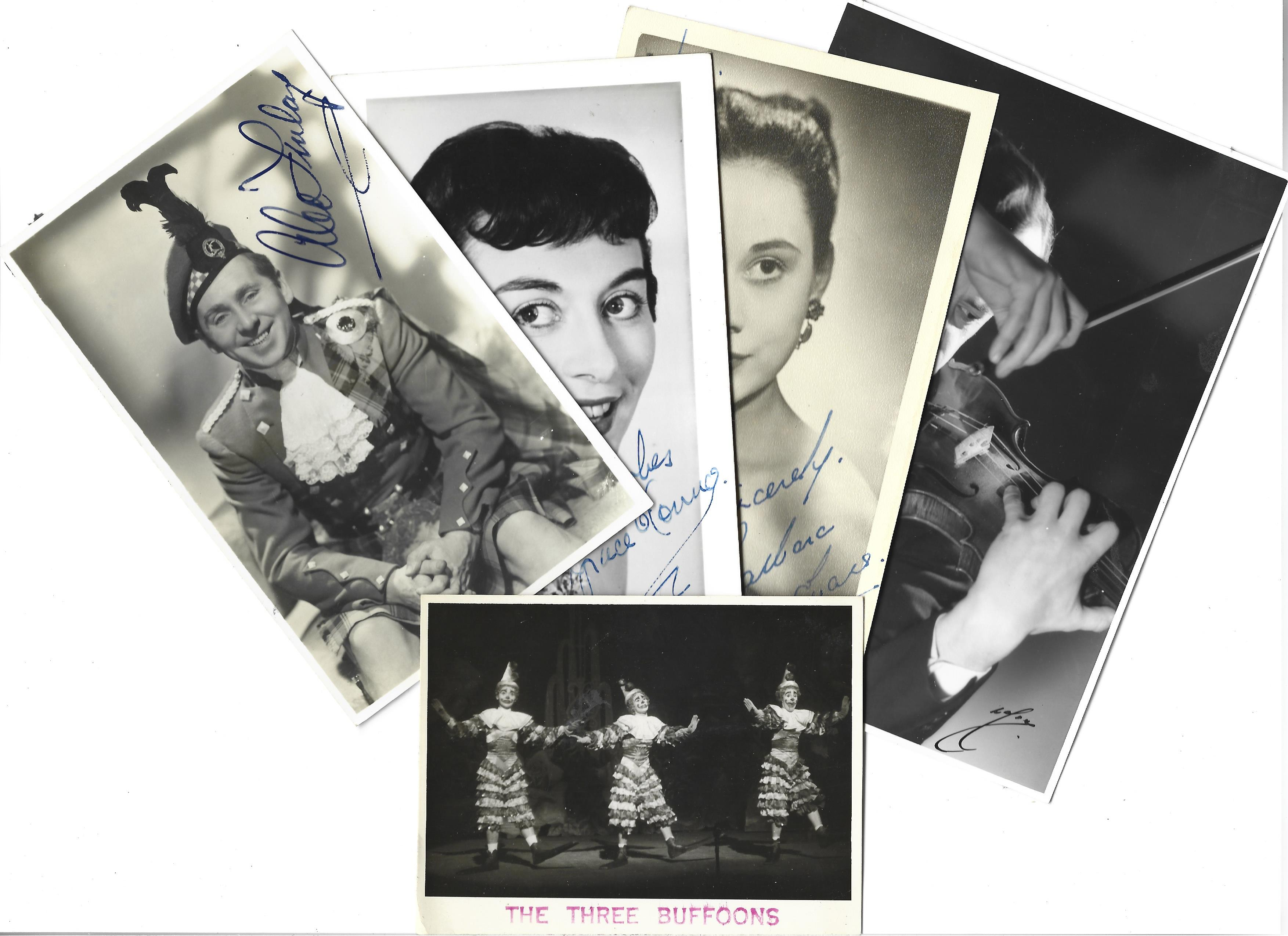 Vintage collection of 80 signed and 14 unsigned entertainment performers. Sizes vary from 9x7 to - Image 3 of 5