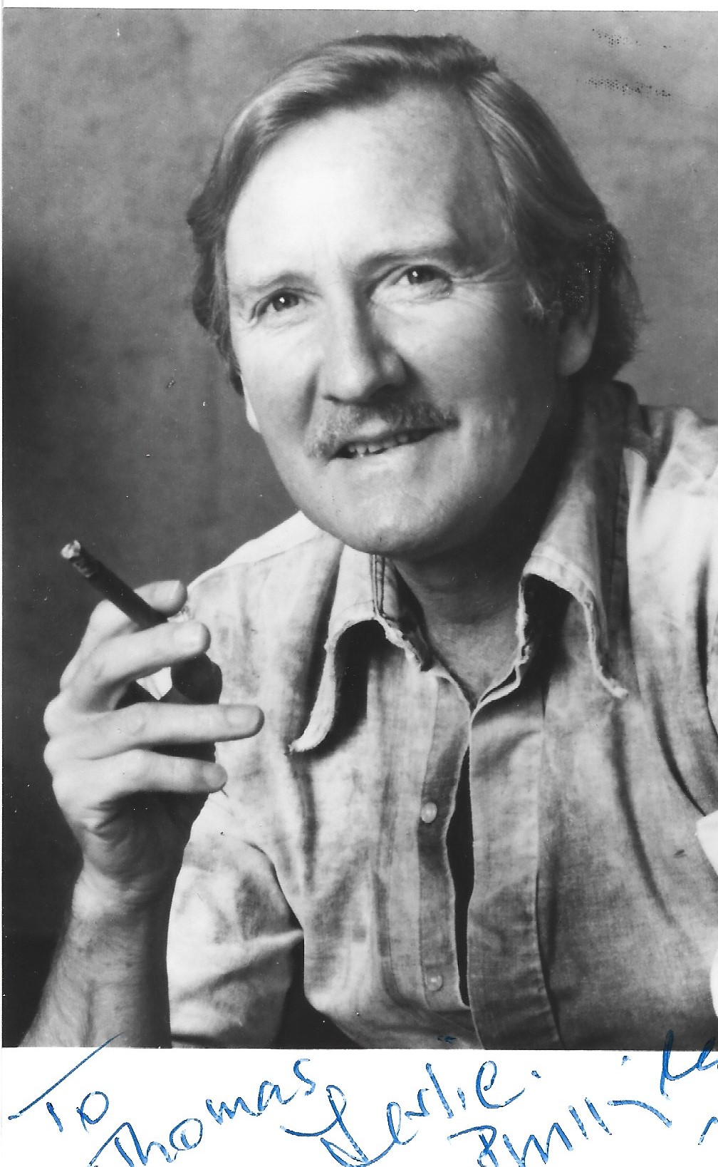 Leslie Phillips signed and dedicated 6x4 black and white photograph. Phillips is an English actor.