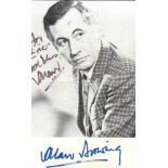 Alan Browning signed and dedicated vintage 6x4 black and white photograph. Browning was an English
